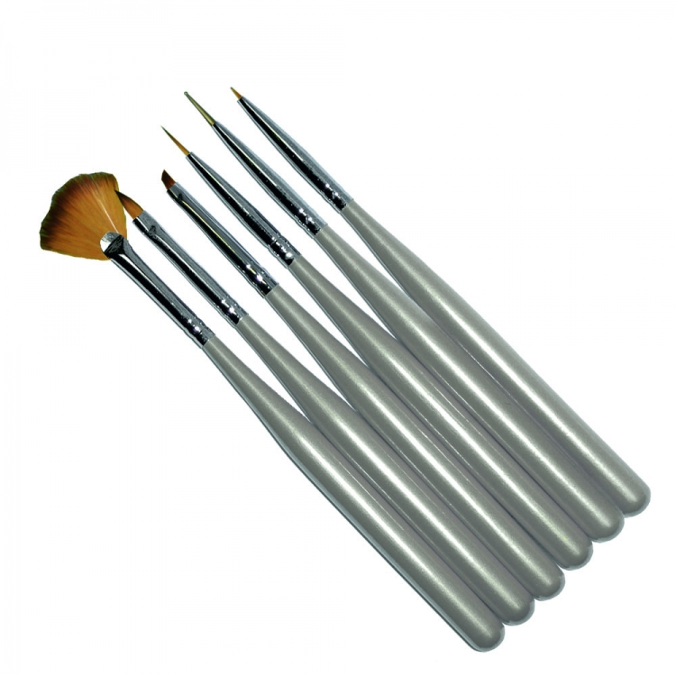 Набор кистей для дизайна  ногтей (6 шт)
