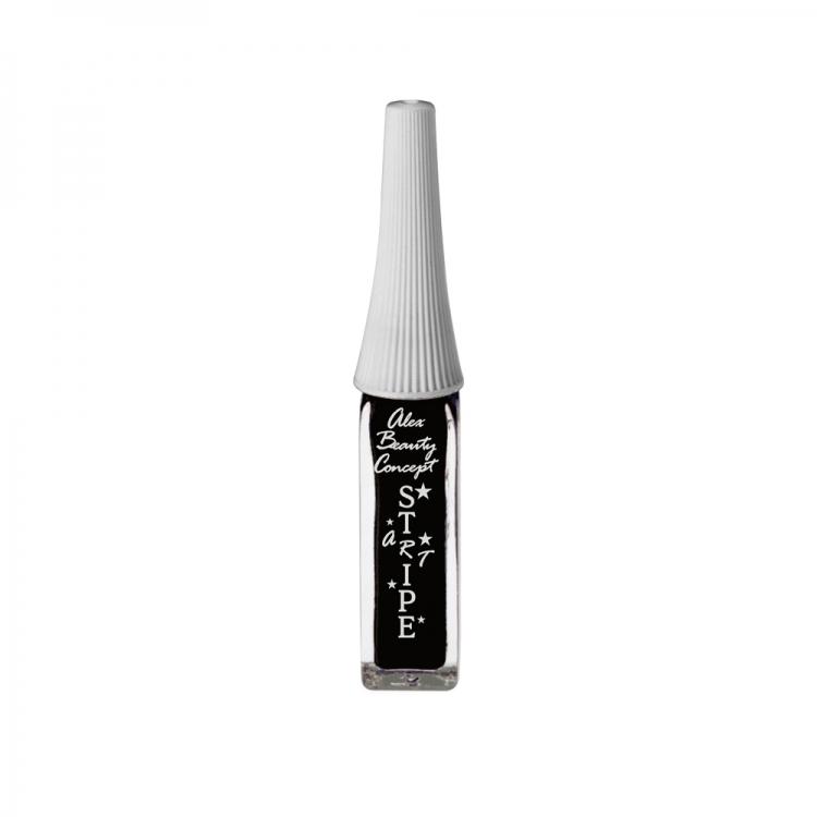 Stripe Art Лак для ногтей с тонкой кистью для дизайна (black) 8 мл