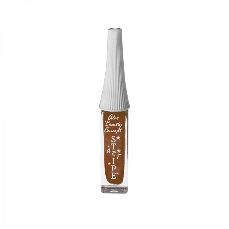 Stripe Art Лак для ногтей с тонкой кистью для дизайна (bronze metallic) 8 мл