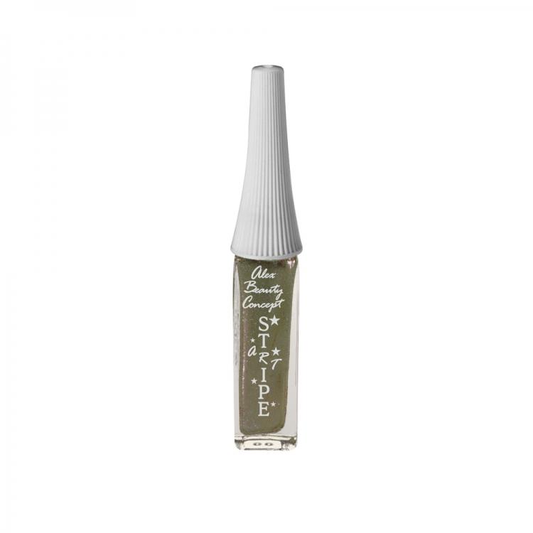 Stripe Art Лак для ногтей с тонкой кистью для дизайна (aqua metallic) 8 мл.
