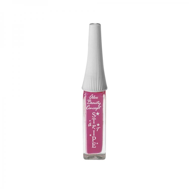 Stripe Art Лак для ногтей с тонкой кистью для дизайна (bright pink) 8 мл.
