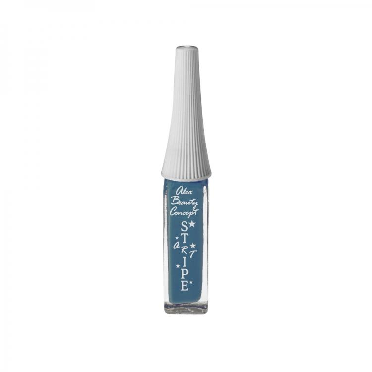 Stripe Art Лак для ногтей с тонкой кистью для дизайна (azure blue) 8 мл.