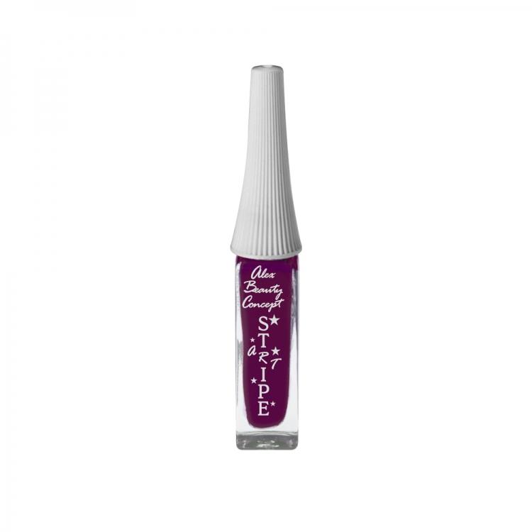 Stripe Art Лак для ногтей с тонкой кистью для дизайна (cranberry pink) 8 мл.