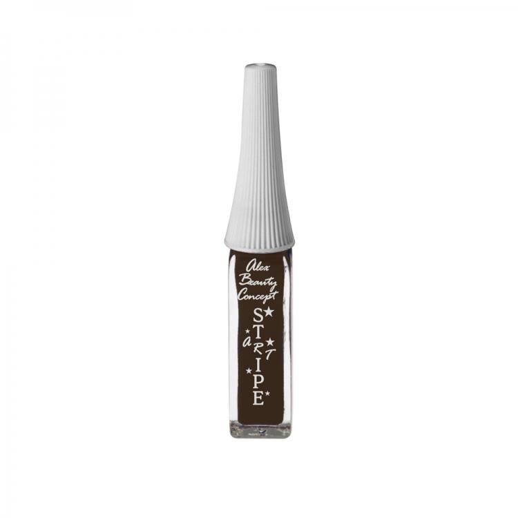 Stripe Art Лак для ногтей с тонкой кистью для дизайна (chocolate) 8 мл.