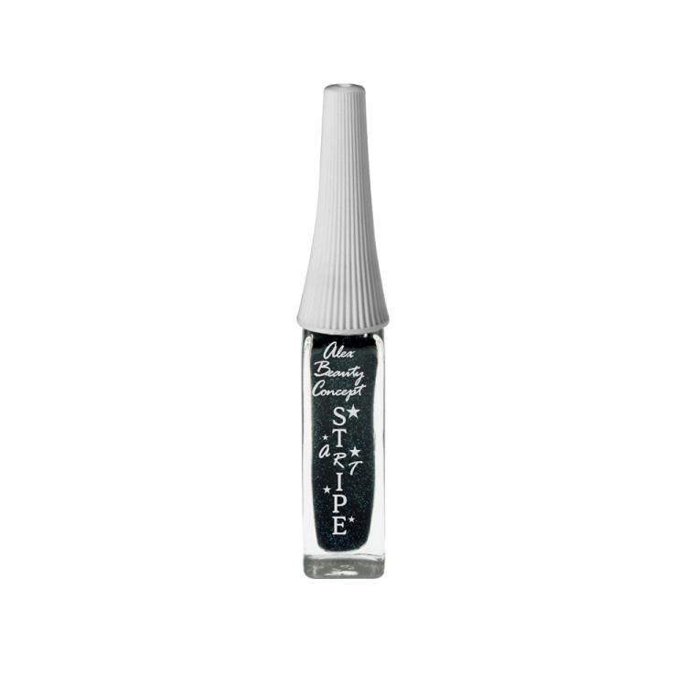 Stripe Art Лак для ногтей с тонкой кистью для дизайна (black) 8 мл.