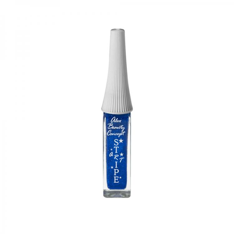 Stripe Art Лак для ногтей с тонкой кистью для дизайна (blue) 8 мл.