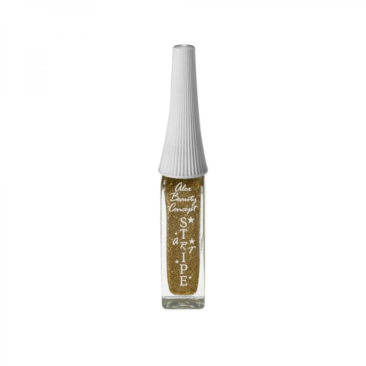 Stripe Art Лак для ногтей с тонкой кистью для дизайна (bronze) 8 мл.