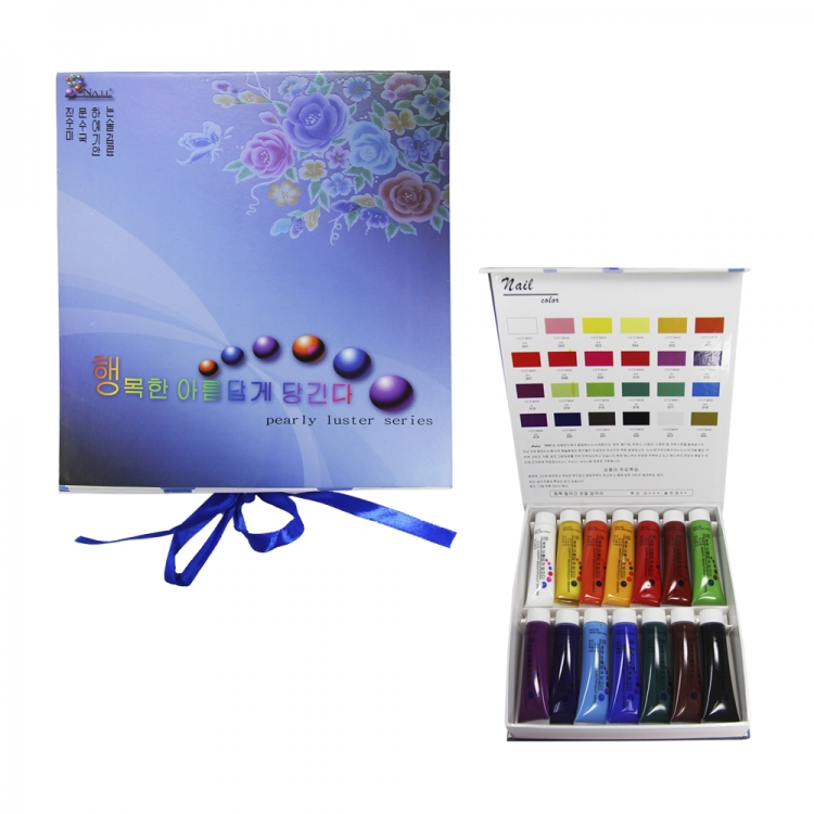 Краски акриловые для ногтей 3-D 14 цветов по 22 мл.