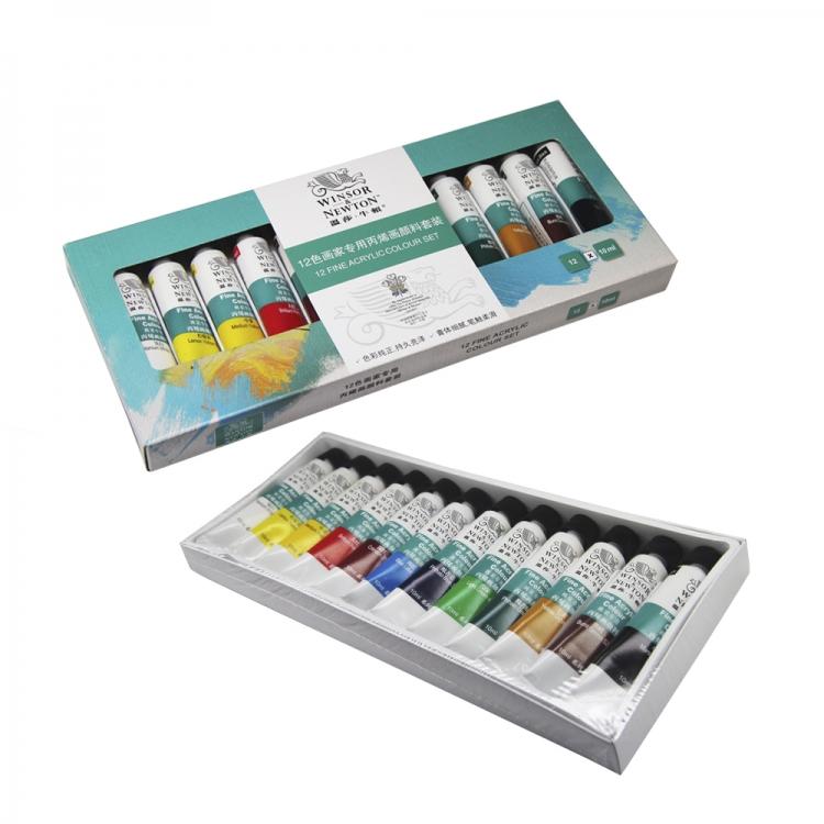 Краски акриловые для ногтей 12 цветов по 12 мл.