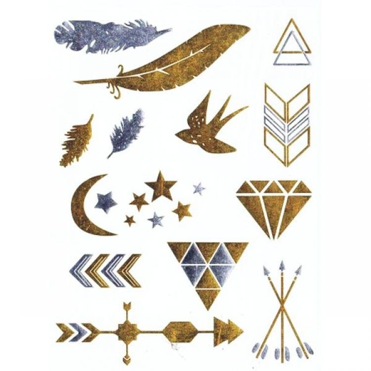Временные татуировки - Стрелки, перья