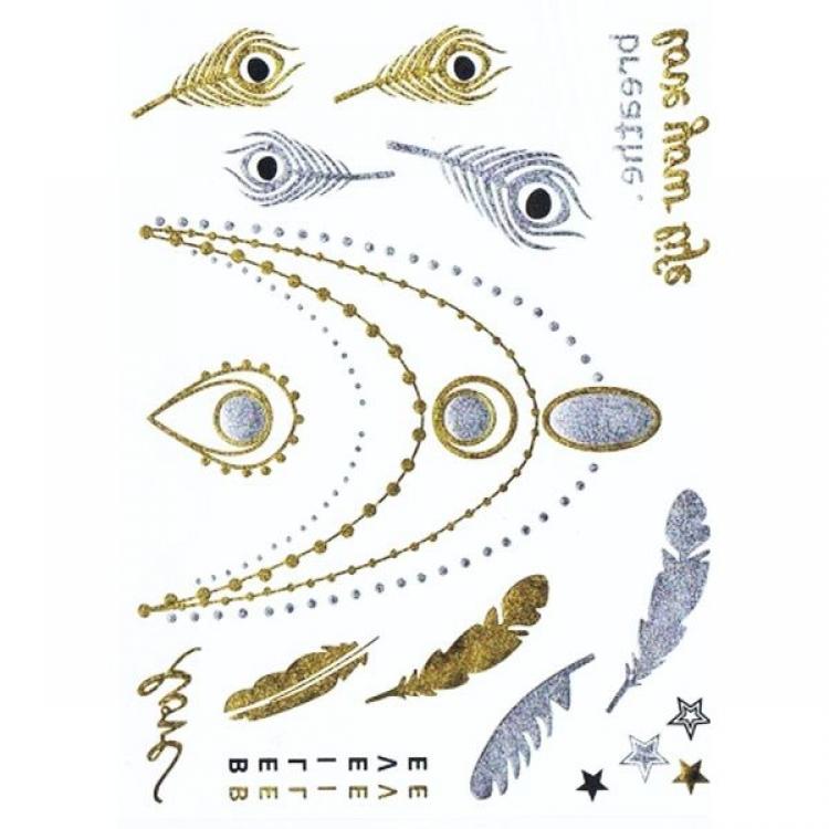 Временные тату - Цепочки, перья