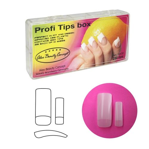 Profi Tips box Типсы для ногтей (250 шт)